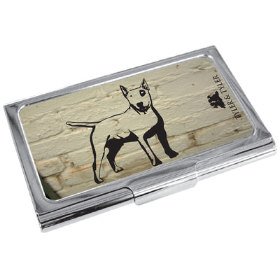TYLER & TYLER Metal Business Card Holder Bullseye Dog