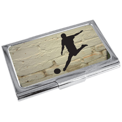TYLER & TYLER Metal Business Card Holder Football