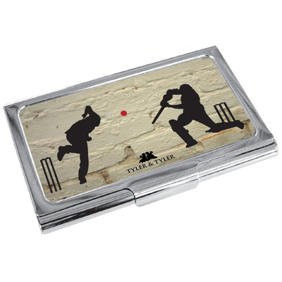 TYLER & TYLER Metal Business Card Holder Howzat Cricket