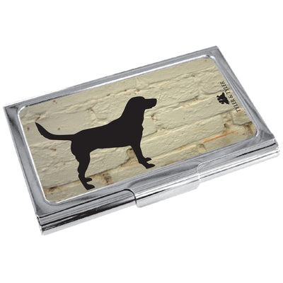 TYLER & TYLER Metal Business Card Holder Labrador