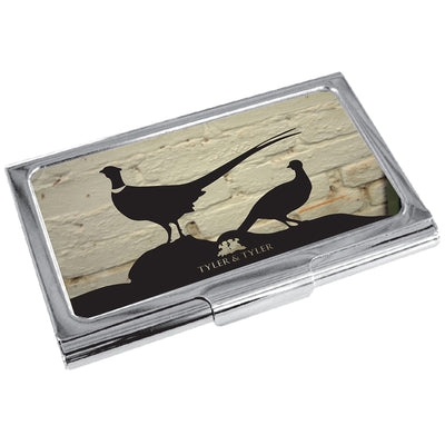 TYLER & TYLER Metal Business Card Holder Pheasant