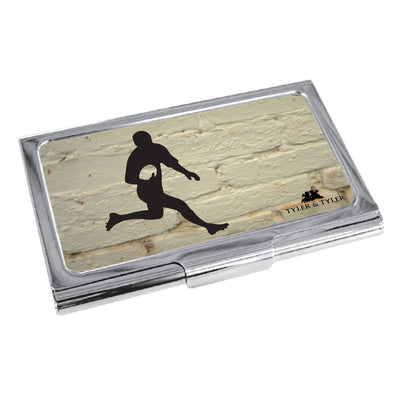 TYLER & TYLER Metal Business Card Holder Rugby