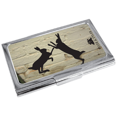 TYLER & TYLER Metal Business Card Holder Sparring Hares
