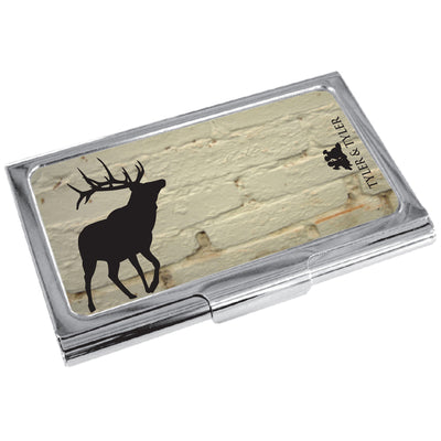 TYLER & TYLER Metal Business Card Holder Stag