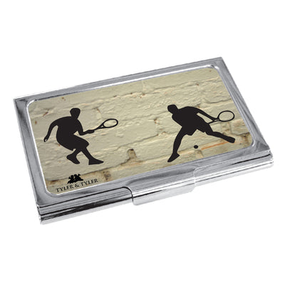 TYLER & TYLER Metal Business Card Holder Tennis