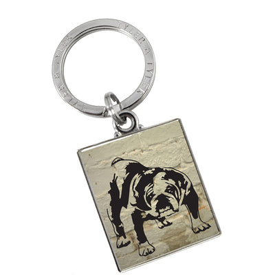 TYLER & TYLER Metal Key Ring Barry Bulldog