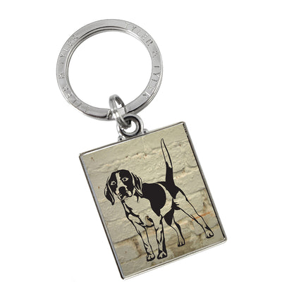 TYLER & TYLER Metal Key Ring Beagle