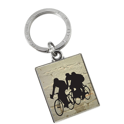 TYLER & TYLER Metal Key Ring Bicycle Racers