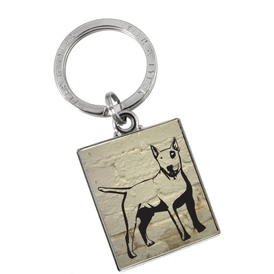 TYLER & TYLER Metal Key Ring Bullseye Dog