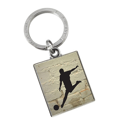 TYLER & TYLER Metal Key Ring Football
