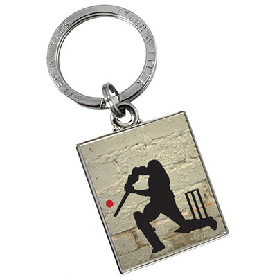 TYLER & TYLER Metal Key Ring Howzat Cricket