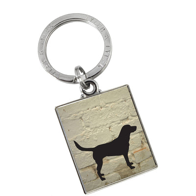 TYLER & TYLER Metal Key Ring Labrador