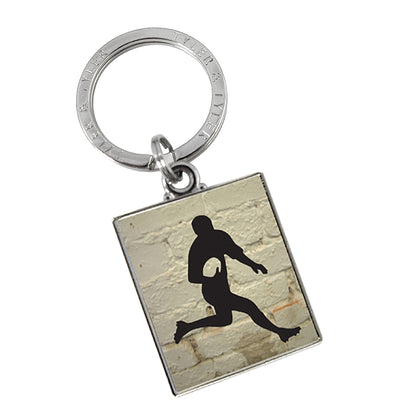 TYLER & TYLER Metal Key Ring Rugby