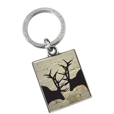 TYLER & TYLER Metal Key Ring Rutting Stags
