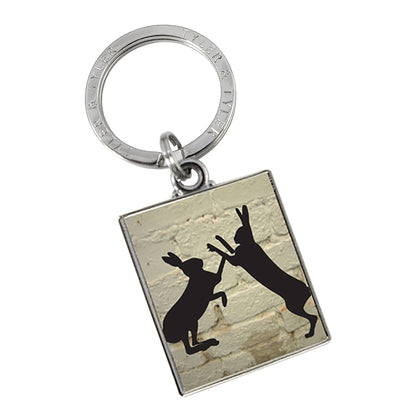 TYLER & TYLER Metal Key Ring Sparring Hares
