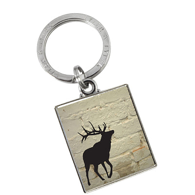 TYLER & TYLER Metal Key Ring Stag