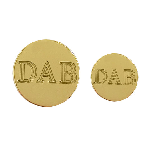 TYLER & TYLER Personalised Blazer Buttons Bright Gold Finish