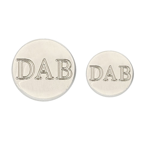 TYLER & TYLER Personalised Blazer Buttons Bright Silver Finish