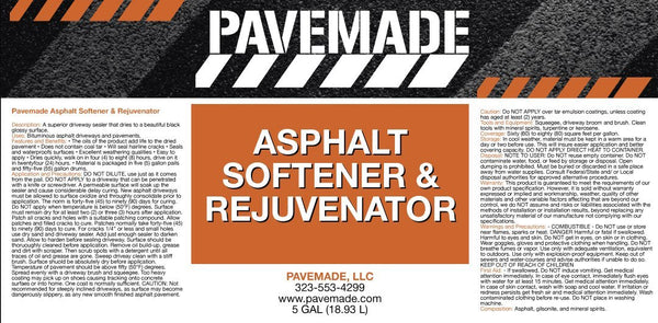 Asphalt Softener and Rejuvenator. - Pavemade.com