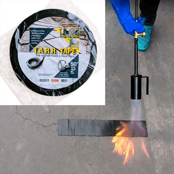 Asphalt tape torch on
