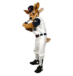 Deer in a baseball costume - Alinco costumes