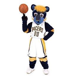 Pacers mascot - Boomer hall of fame for mascots