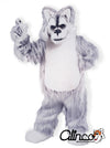 Gray Husky Wolf Dog Mascot Costume