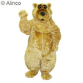 boris bear curly mascot costume