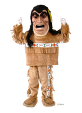 yellow feather native american mascot costume