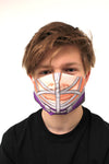 purple hockey player face mask face guard