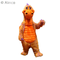 skittles multicolored dragon mascot costume