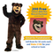Grizzly Bear Flexible Mascot Costume