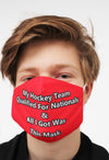 red hockey nationals player face mask face guard