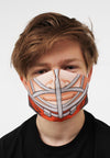 orange hockey player face mask face guard