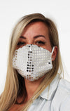 white sparkle face mask guard