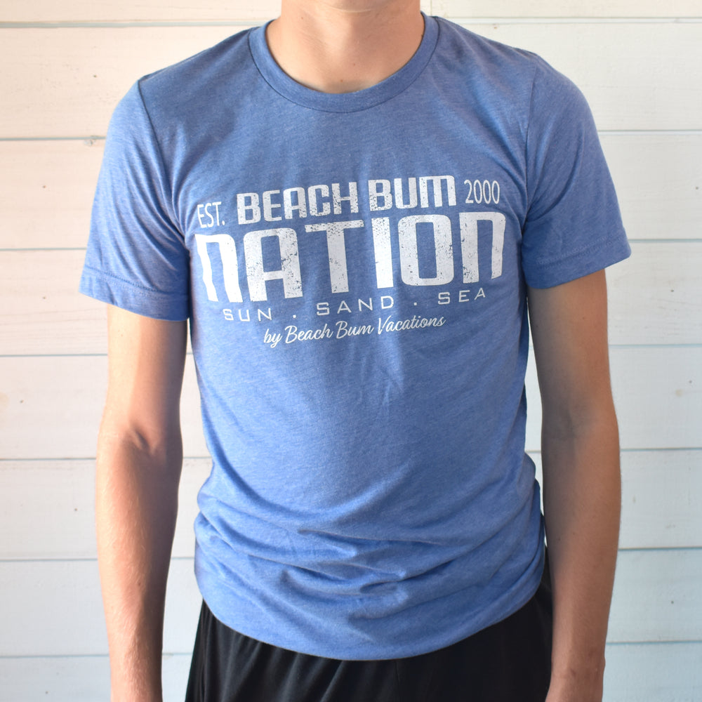 Tri-blend Travel Tee - Light Blue