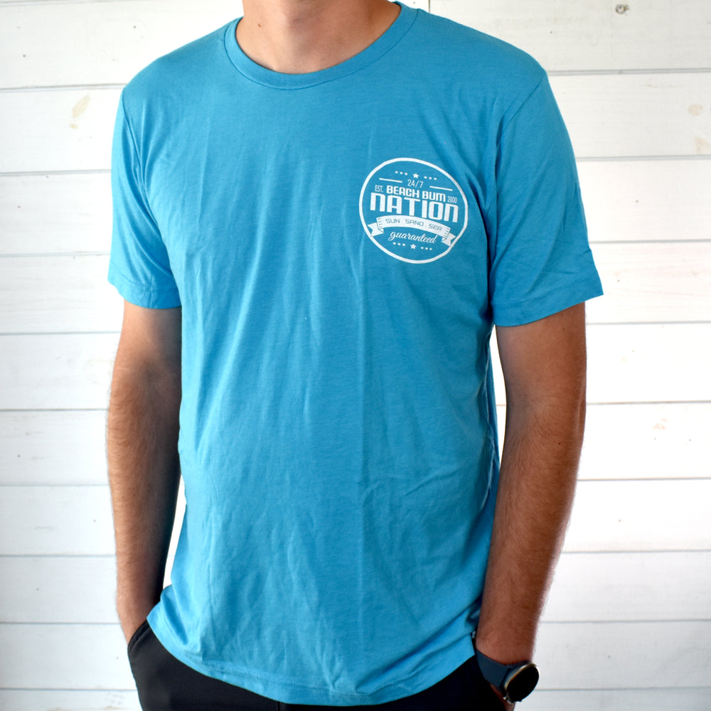 Load image into Gallery viewer, Tri-Blend Travel Tee - Aqua