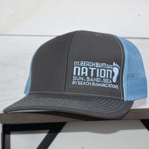 Structured Snapback Hat - Gray/Blue