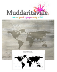 World Map Stencil - Medium, used by Jennylyn Pringle from Fusion Mineral Paint in her Hometalk Facebook live video.