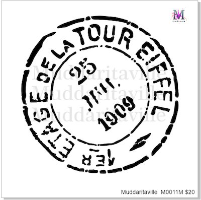 M0011 Tour Eiffel Postal Cancellation Mark