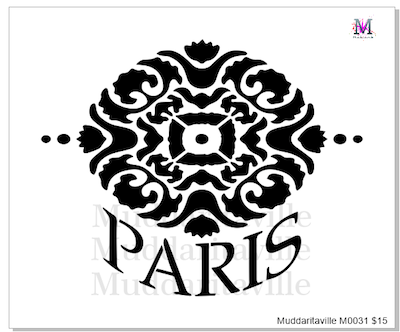 M0031 Paris w/Damask