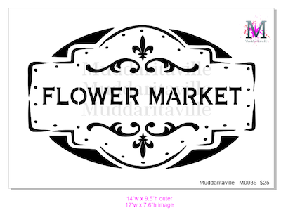 M0036 Flower Market with Border