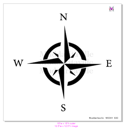 M0041 NWSE Compass Rose