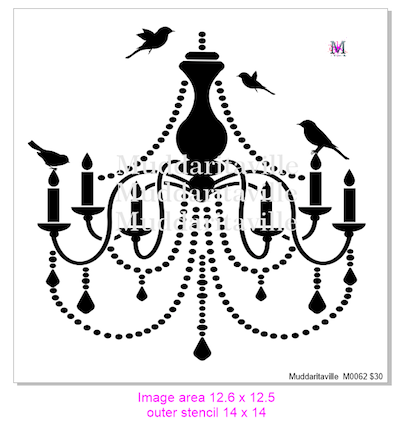 M0062 Chandelier with birds