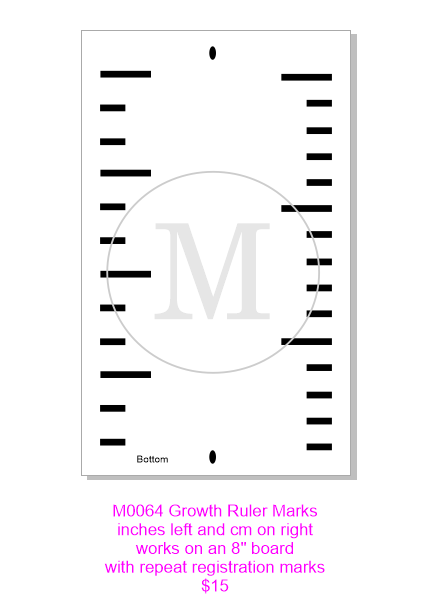 M0064 Growth Ruler marks stencil