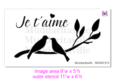 M0068 Je t'aime Love Birds