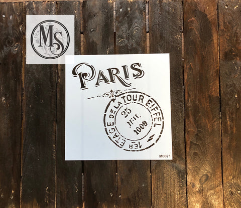M0071 Paris Tour de Eiffel Distress Postal combo