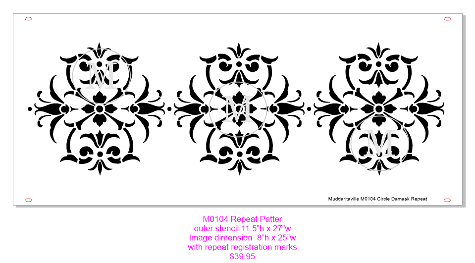 M0104 Repeat Circle Damask
