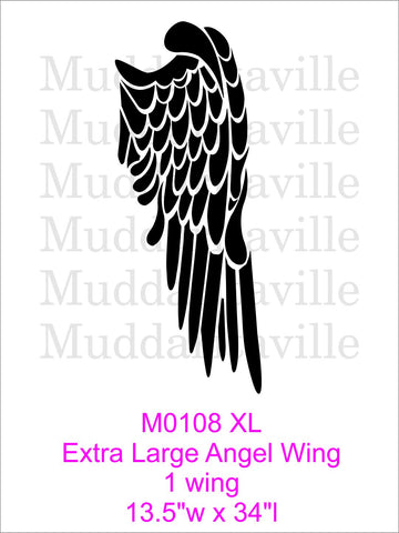 M0108XL Extra Large Angel Wing *REVISED SEPT 2017