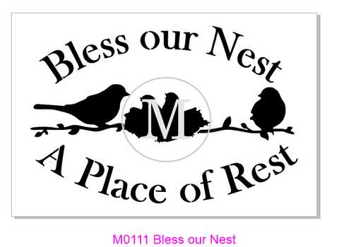 M0111 Bless our Nest